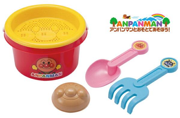 日本ANPANMAN麵包超人玩沙工具組沙灘玩具洗澡玩具挖沙玩具5件組*夏日微風*
