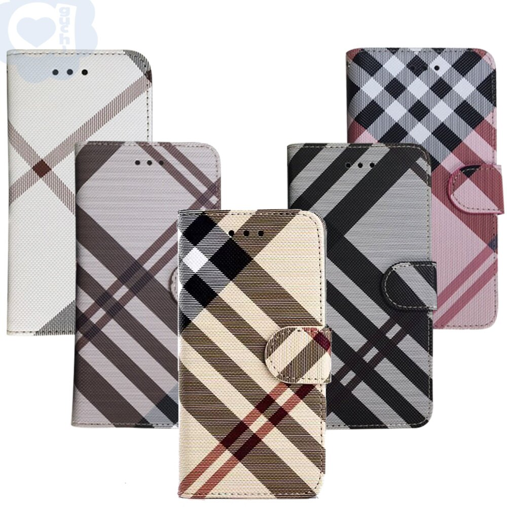 Apple iPhone 6 Plus/6s Plus 英倫格紋氣質手機皮套 側掀磁扣支架式皮套 矽膠軟殼 5色可選 1