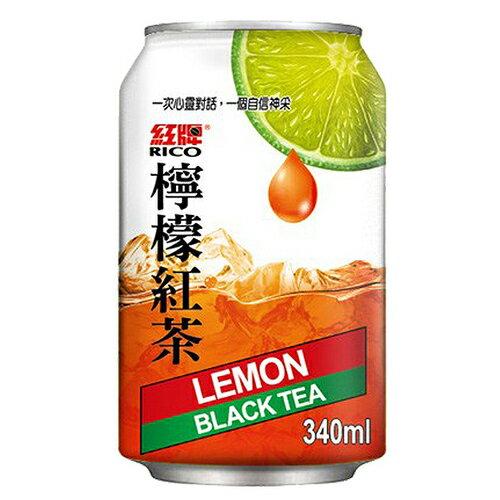 紅牌 檸檬紅茶 340ml