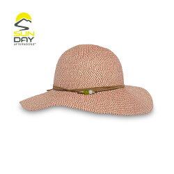 《台南悠活運動家》SUNDAY 女抗UV防曬輕量編織帽 岩石紅 SAS2C86496C-426-07