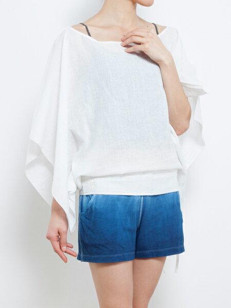 【Bali】亞麻布簡約罩衫 瑜珈服 2