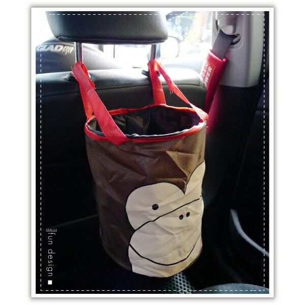 【aife life】車用動物摺疊收納筒-多款 / 韓系垃圾桶 / 魔鬼氈 多功能 收納桶 / 汽車掛式 折疊 收納籃 / 飲料放置 0