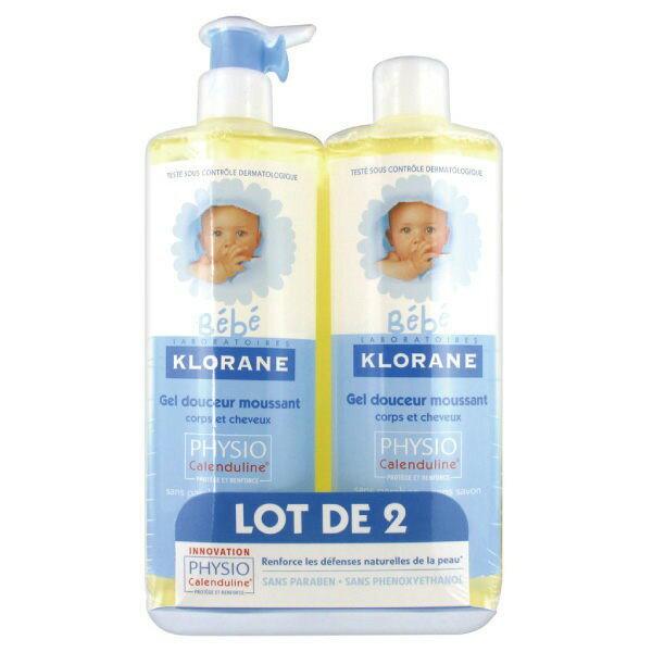 Klorane 蔻蘿蘭 寶寶洗髮沐浴精 500ml*2【櫻桃飾品】 【24691】
