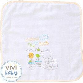 ViViBaby - Disney迪士尼小熊維尼雙面手帕 (毛巾+紗布) 0