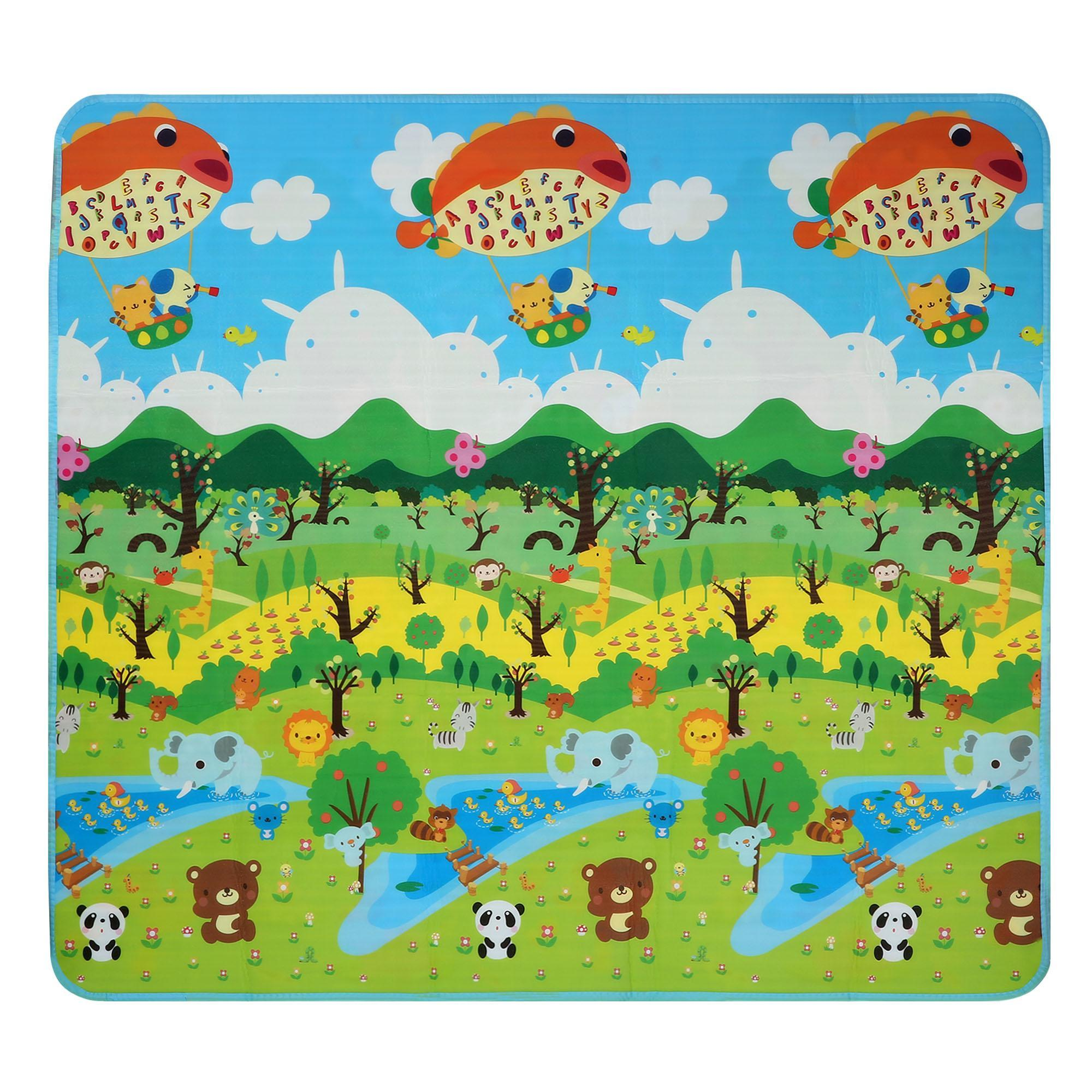 2x1.8m Children Play-Mat Picnic Cushion Crawling Mat Two Sides Playing Activity Pad 0