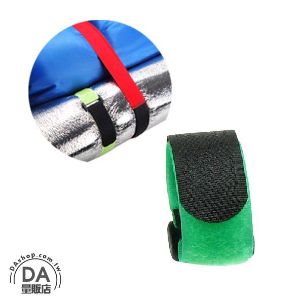 DA量販店:《DA量販店》5條整線小幫手多功能魔鬼氈束線帶整線帶黏扣帶五個綠色(V50-1304)