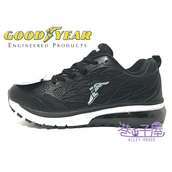 【巷子屋】GOODYEAR固特異光速之翼男款KPU超緩震大氣墊運動慢跑鞋[73150]黑超值價$690