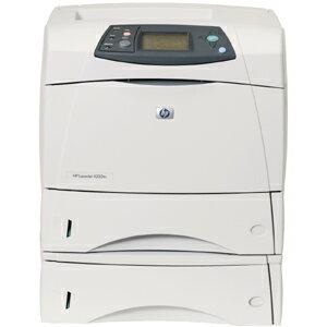 HP LaserJet 4250tn Laser Printer - Monochrome - 1200 x 1200 dpi Print - Plain Paper Print - Desktop - 45 ppm Mono Print - Letter, Legal, Executive, Statement, Envelope No. 10, Monarch Envelope, Custom Size - 1100 sheets Standard Input Capacity - 200000 Du 1