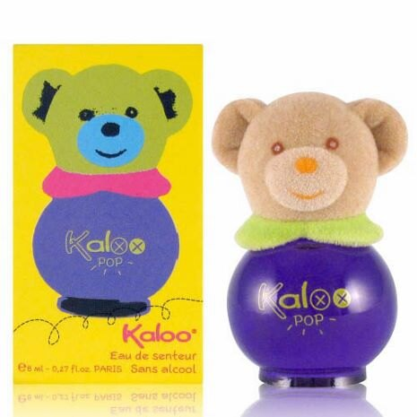 KALOO 無酒精寶寶香水 POP彩繪熊香水 8ML 紫瓶 ~真愛香水~