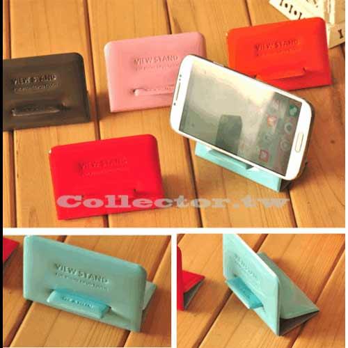 糖果色亮色皮質手機支架 手機伴侶 蘋果/三星/HTC智慧型手機支架