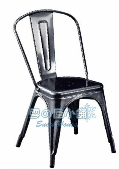╭☆雪之屋居家生活館☆╯006黑色鐵皮餐椅BB383-16#3186B