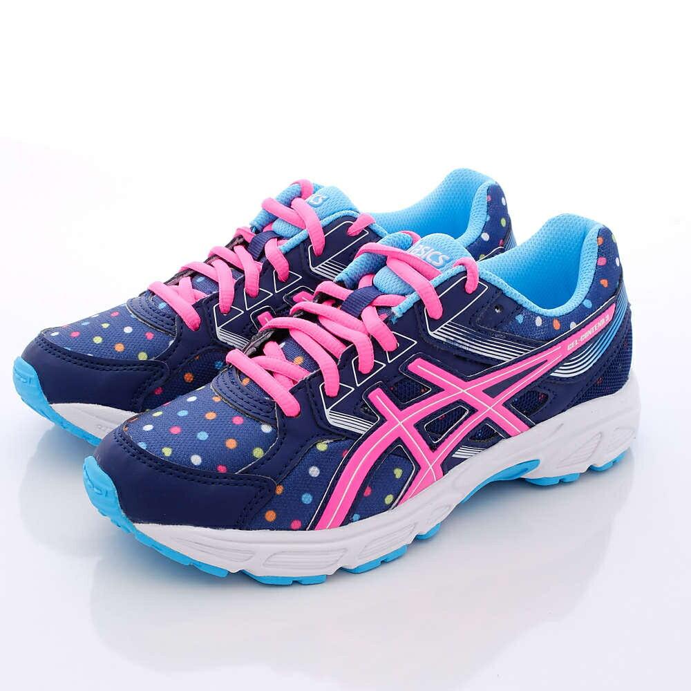 日本亞瑟士ASICS機能童鞋-C566N-4920圓點藍(中大童段) 618購物節
