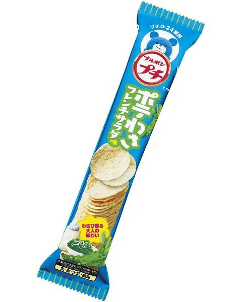 Bourbon北日本法式沙拉小薯片-芥末風味(45g) | ブルボン プチ ポテわさフレンチサラダ味