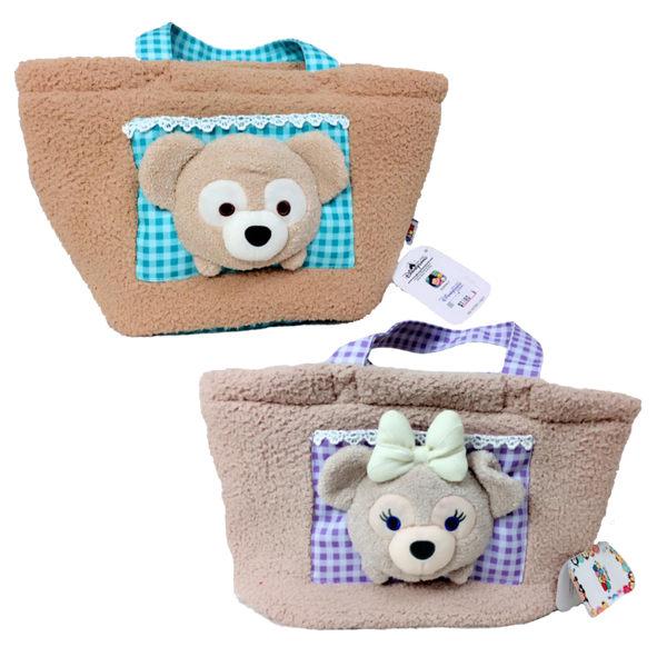 香港直送 Disney 香港迪士尼 Duffy /Shelliemay 可愛造型 可愛毛茸茸 手提袋