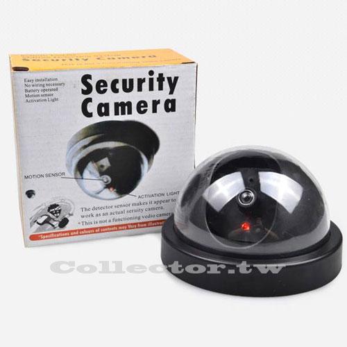 【F14120301】半圓式偽裝仿真攝像頭 半球防盜假監視器 帶燈玩具模型監視器