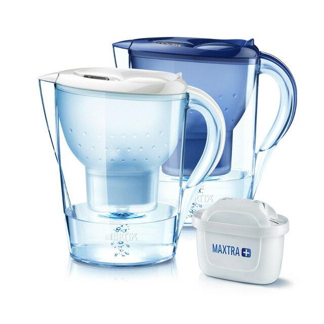 德國BRITA Marella XL濾水壺3.5L+濾心1入MAXTRA濾芯 馬利拉 白色 /藍色 免運
