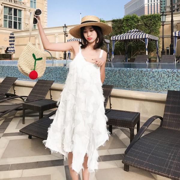 PS Mall 海島海灘長裙海邊度假裙 連身裙 洋裝【T045】 1