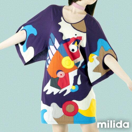 【Milida,全店七折免運】五分袖寬鬆舒適洋裝 6