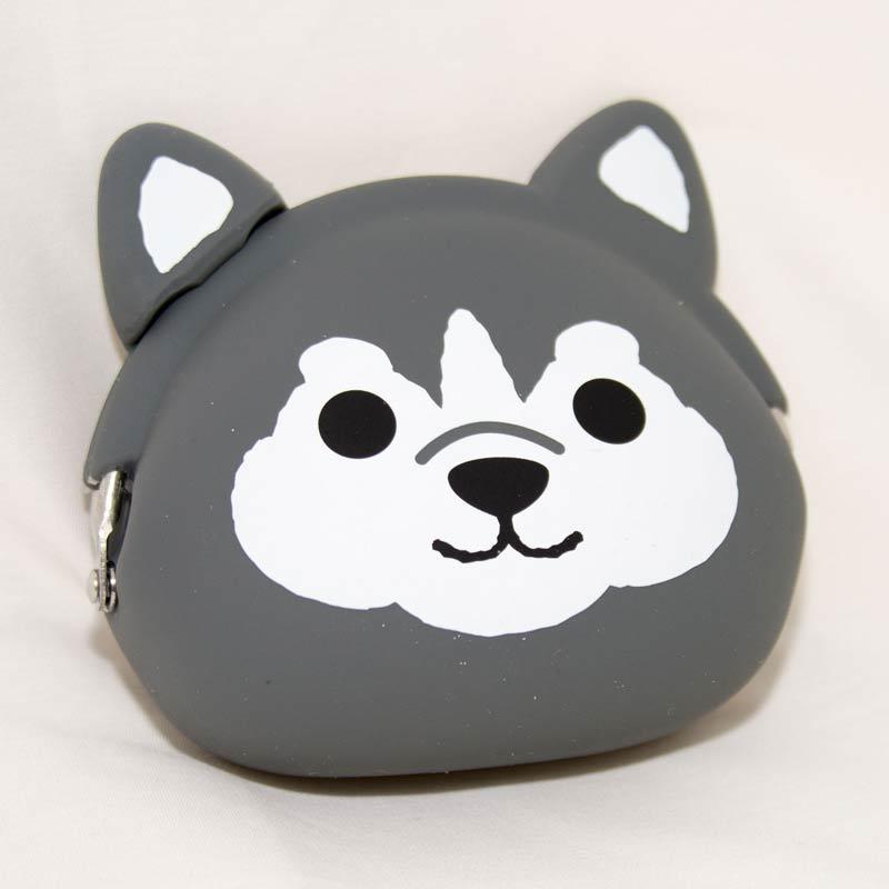 哈士奇 矽膠零錢包 日本正版 mimi POCHI