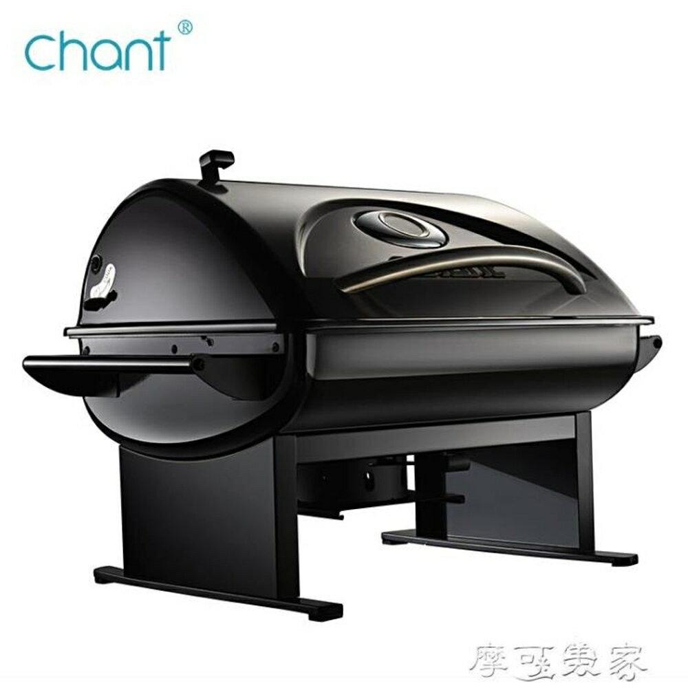 燒烤爐chant便攜小型燒烤爐家用木炭無煙戶外燒烤架子野外烤肉工具迷你MKS摩可美家