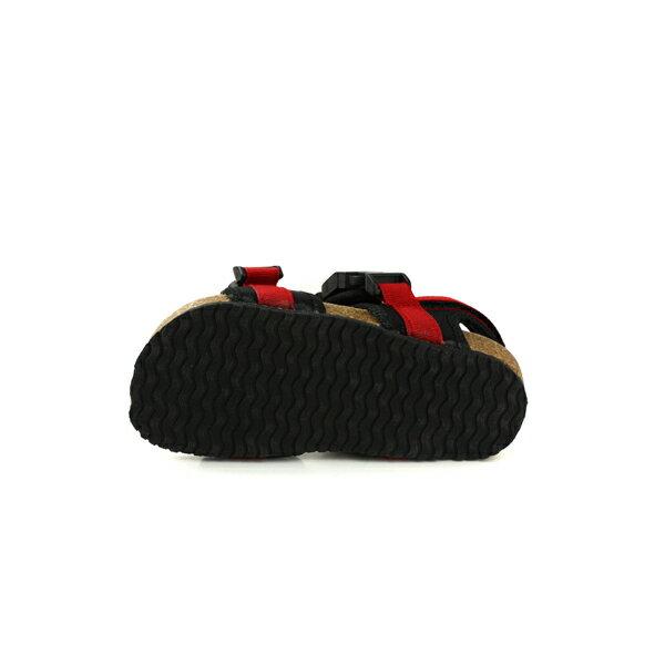 小男生鞋 涼鞋 魔鬼氈 紅 / 黑 童鞋 RR34B-RD no006 6