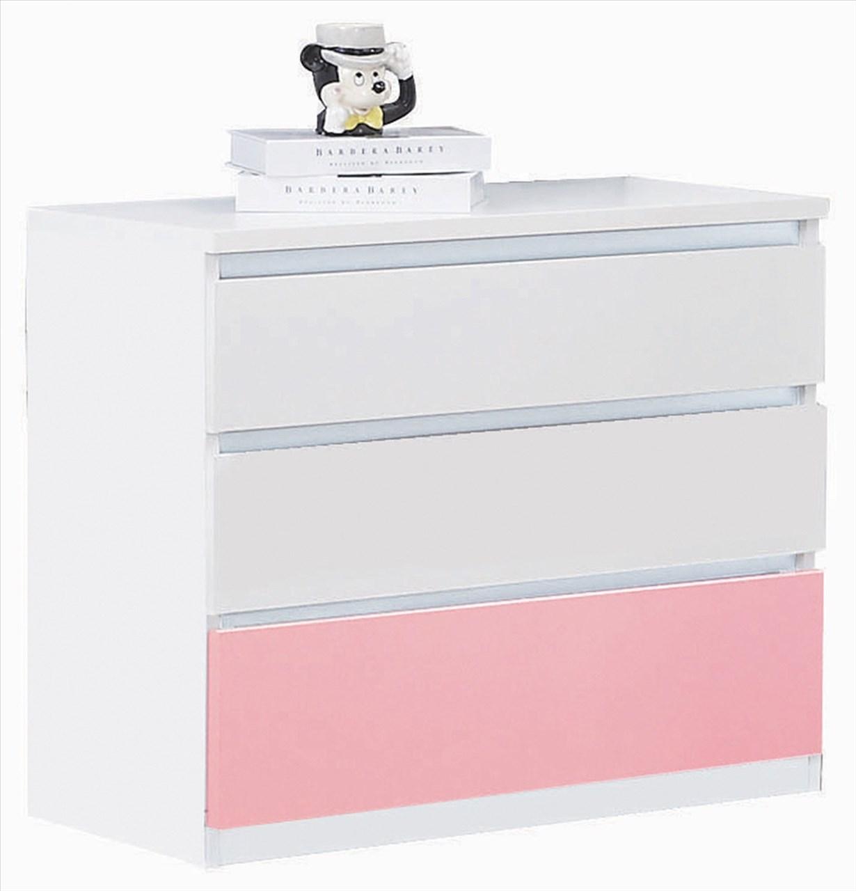 【石川家居】GD-429-4 艾美爾系統 青少年系列 粉色 三斗櫃 (不含其他商品) 台中以北搭配車趟免運
