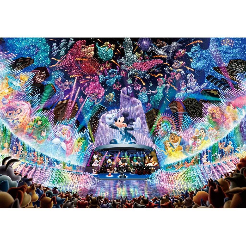 日本進口正版 米奇 米妮 透明壓克力材質 500片拼圖 迪士尼 水夢音樂會 彩色玻璃 迪斯尼 日本