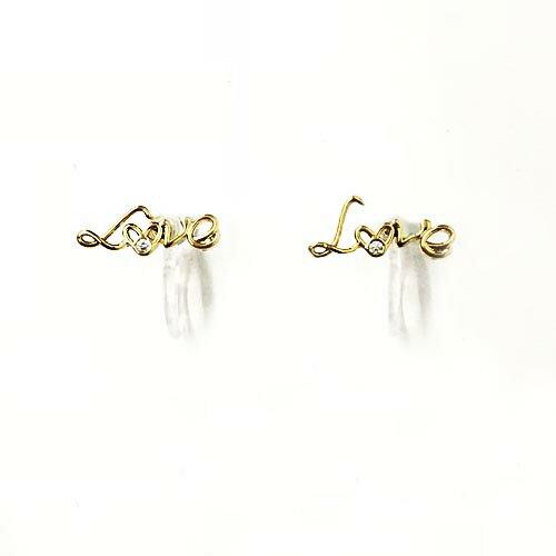 (預購+現貨)LOVE。夾式耳環(矽膠夾)針式2色【2-18063】