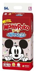 滿意寶寶 日本境內MamyPoKo 紅色米奇 限定版(黏) L (52片 x 3包/箱)