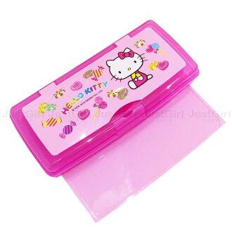 HELLO KITTY 鉛筆盒 收納盒 置物盒 雙層附白板 文具 台灣製造 * JustGirl *