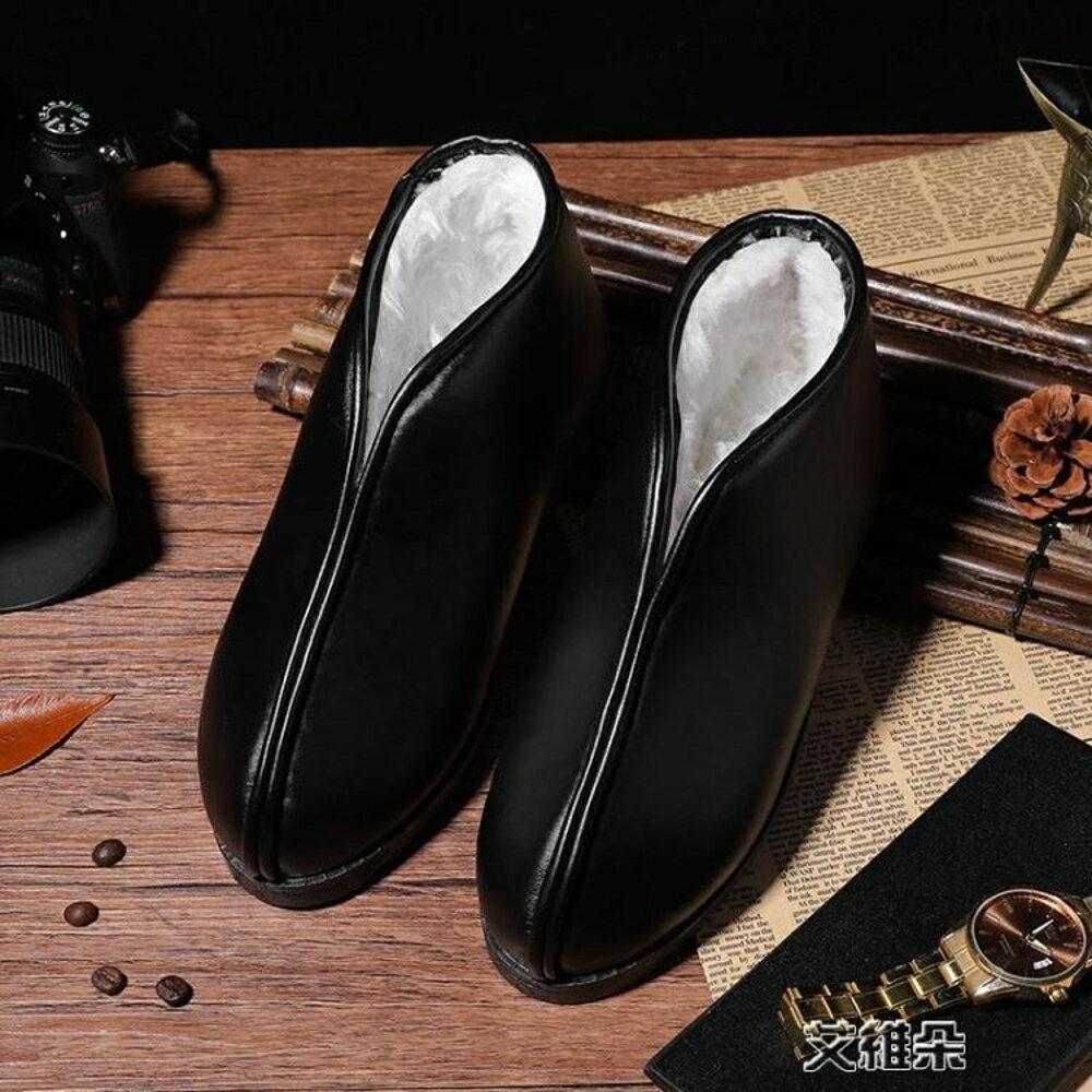 雪地靴女防滑男短靴防水保暖短筒平底老人靴 清涼一夏钜惠