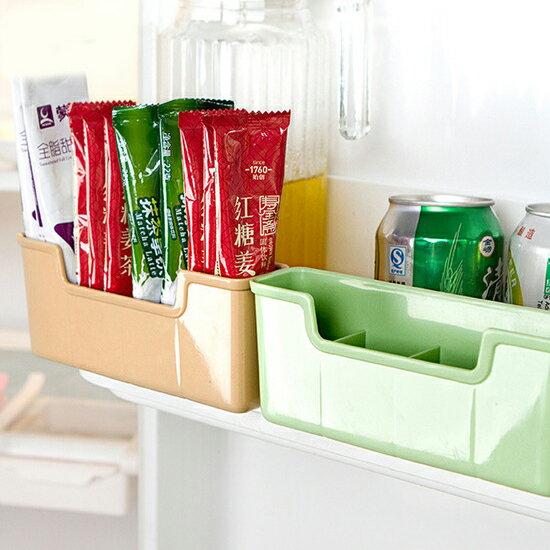 ♚MY COLOR♚冰箱側掛置物盒 廚房 收納 儲物 櫥櫃 門背 移動 掛勾 掛架 雜物 果皮【H55】