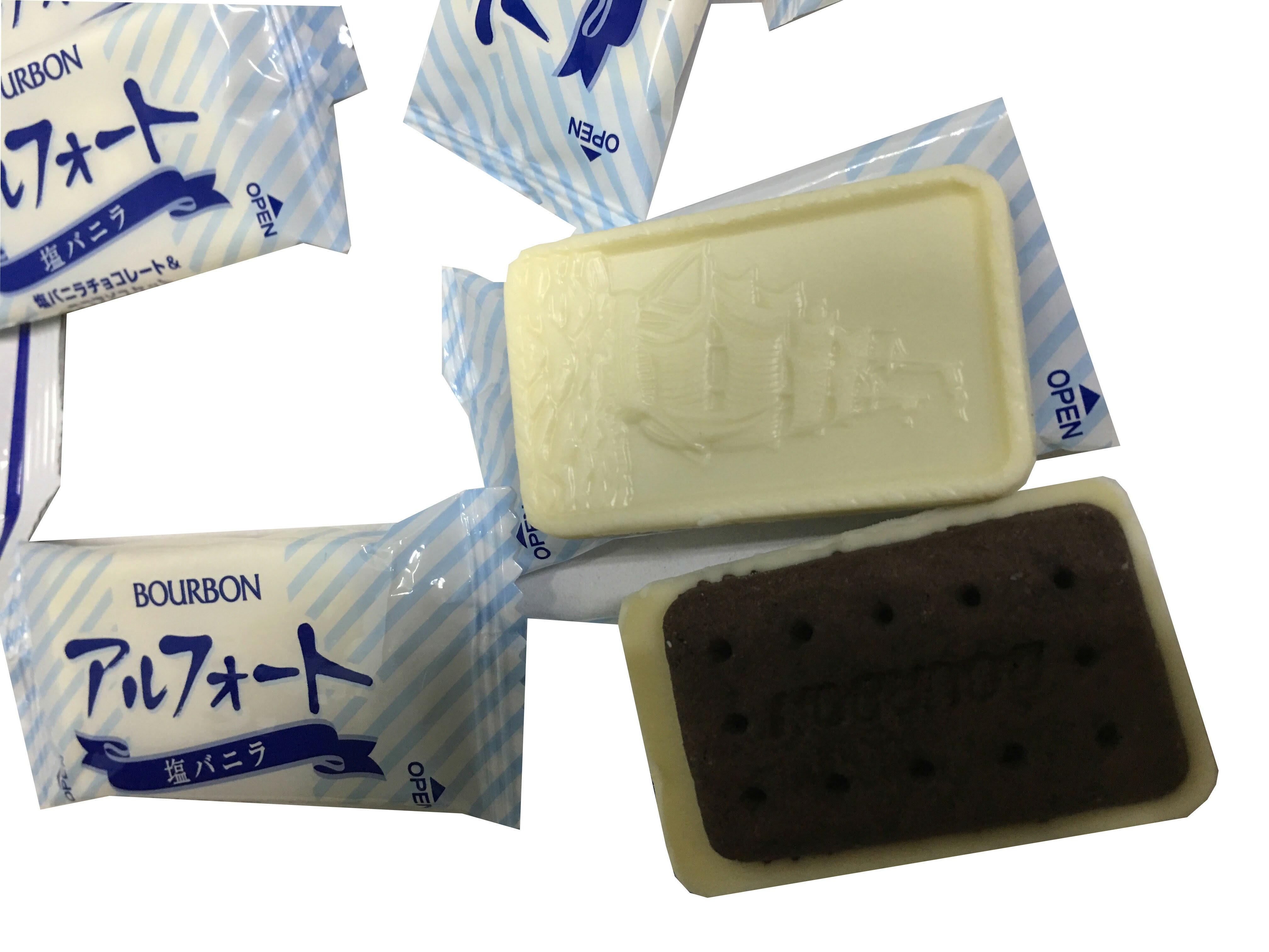 ★日本★進口零食★北日本★甘鹽香草巧克力帆船餅乾★帆船餅乾★巧克力★