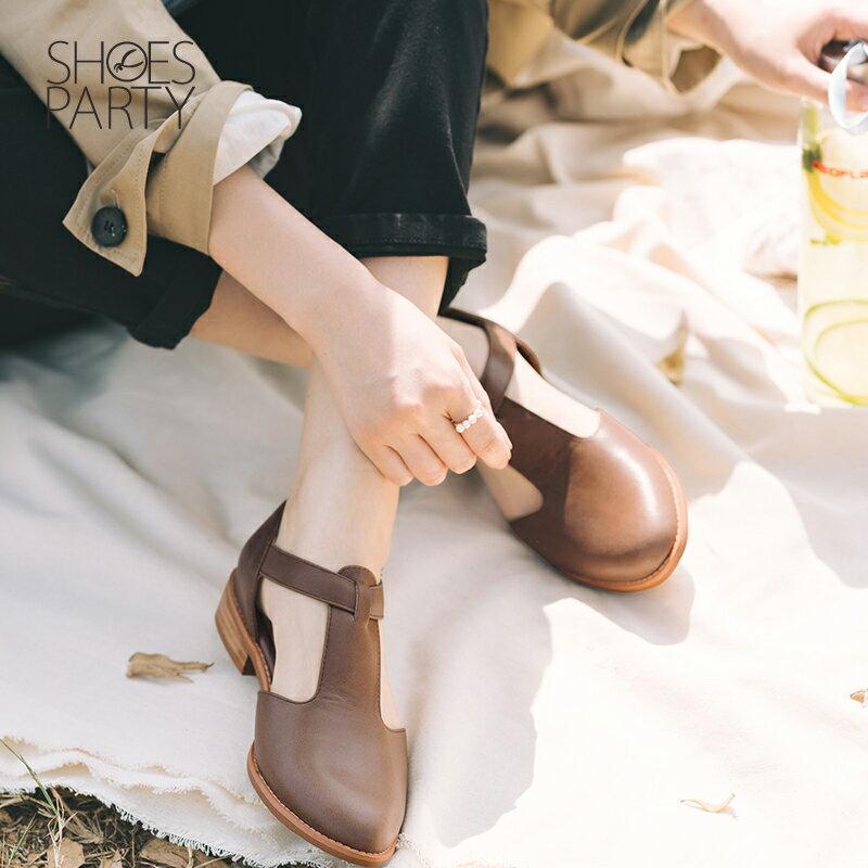 【S2-19328L】外尖內圓T字牛津鞋_Shoes Party 5