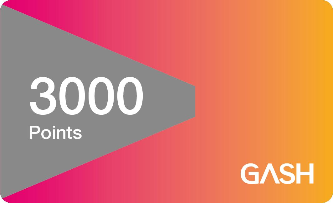 【童年往事】 GASH (實體序號)  3000點 遊戲橘子