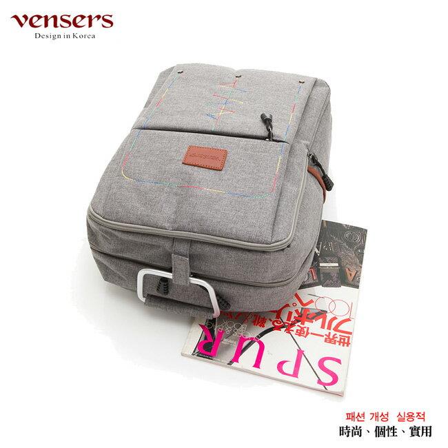【vensers】簡約丹寧牛仔後背包(R00066302淺灰) 2