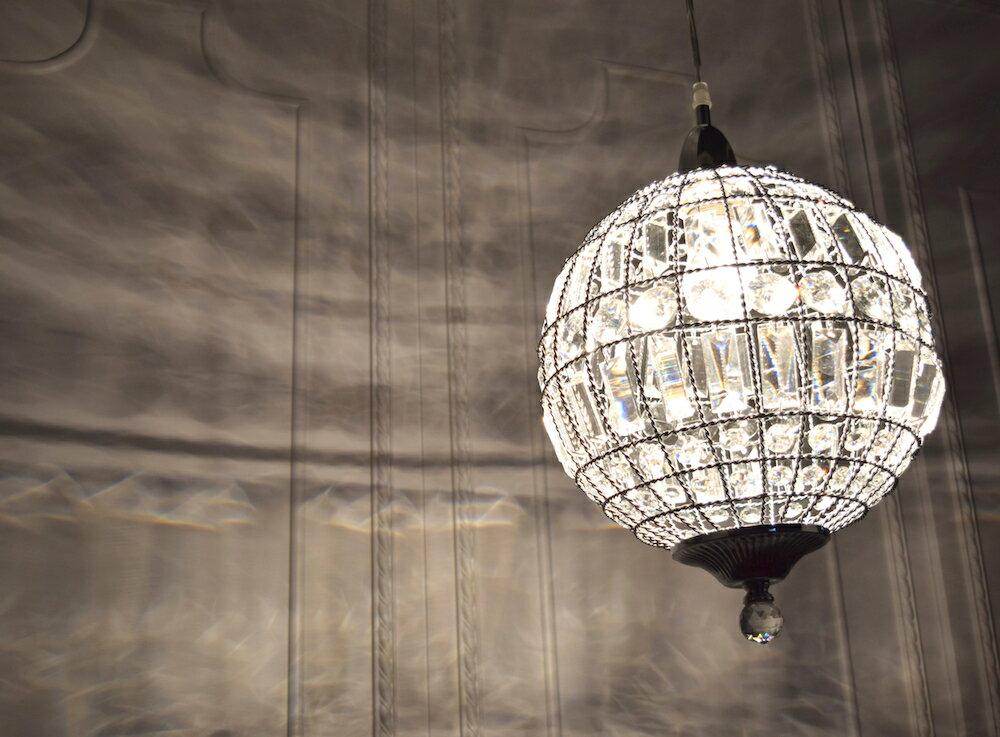 鍍鉻水晶圓形吊燈-BNL00104 8