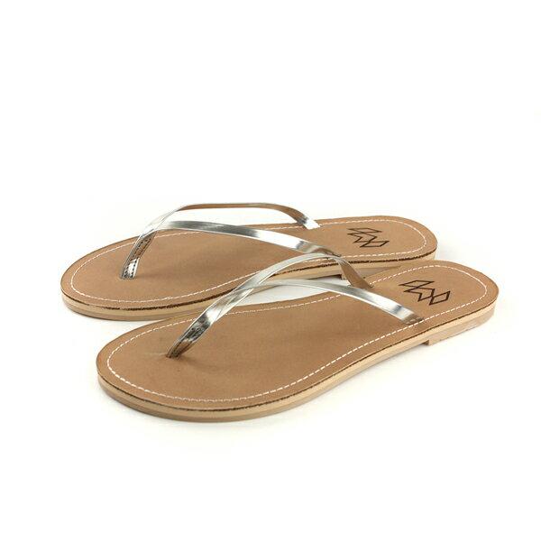 MALVADOSLUX萊絲系列夾腳拖人字拖拖鞋雨天銀色女鞋4001-1739no011