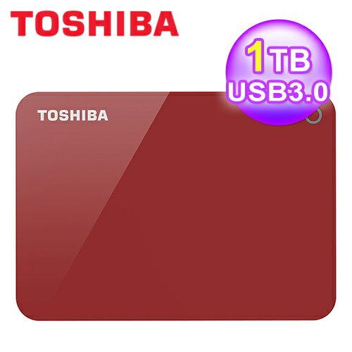 【Toshiba東芝】先進碟V91TBUSB3.02.5吋外接硬碟(紅)【三井3C】