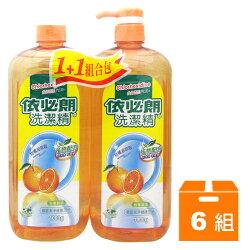 依必朗 洗潔精-柑橘 (1+1組合包) 1000g (6組)/箱