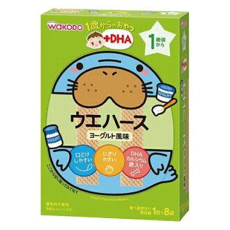 【安琪兒】日本原裝進口【WAKODO和光堂】IO5優格威化薄餅32g(1歲以上)