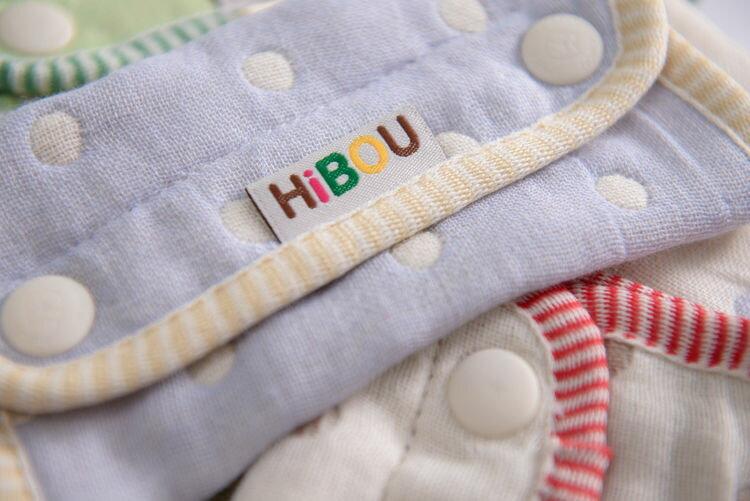 ollobaby瓦吉司 - HiBOU喜福 - 六層紗背巾口水巾 (水玉紅) 4