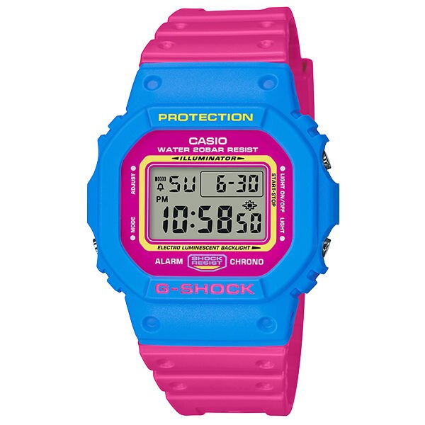 CASIO G-SHOCK DW-5600TB-4B 多彩數位撞色時尚腕錶/48.9*42.8mm