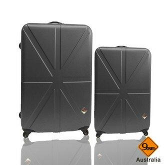 Gate9 米字英倫系列超值兩件組24吋+20吋輕硬殼旅行箱/行李箱 2