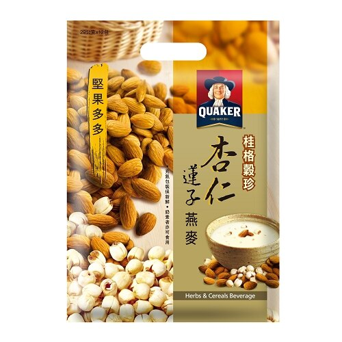 桂格穀珍堅果多多-杏仁蓮子燕麥28g*12入/袋【愛買】