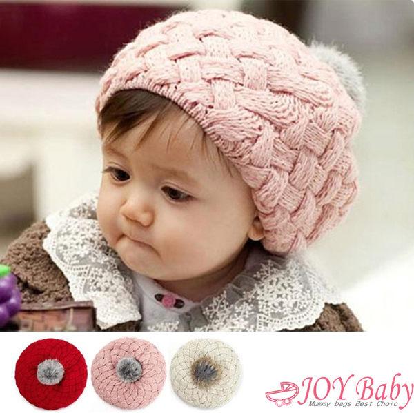 貝雷帽/帽子/毛線帽/秋冬韓版 新款兒童寶寶時尚毛線帽【JoyBaby】