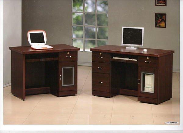 【尚品家具】655-20 特拉特 3.5尺 胡桃 電腦桌/書桌/辦公桌~另有 4.2尺