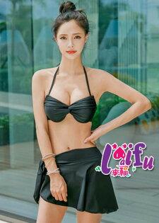 來福泳裙,V221泳裙側繫帶泳裙單售女生泳裙防走光保守泳裙子正品,單裙子售價299元