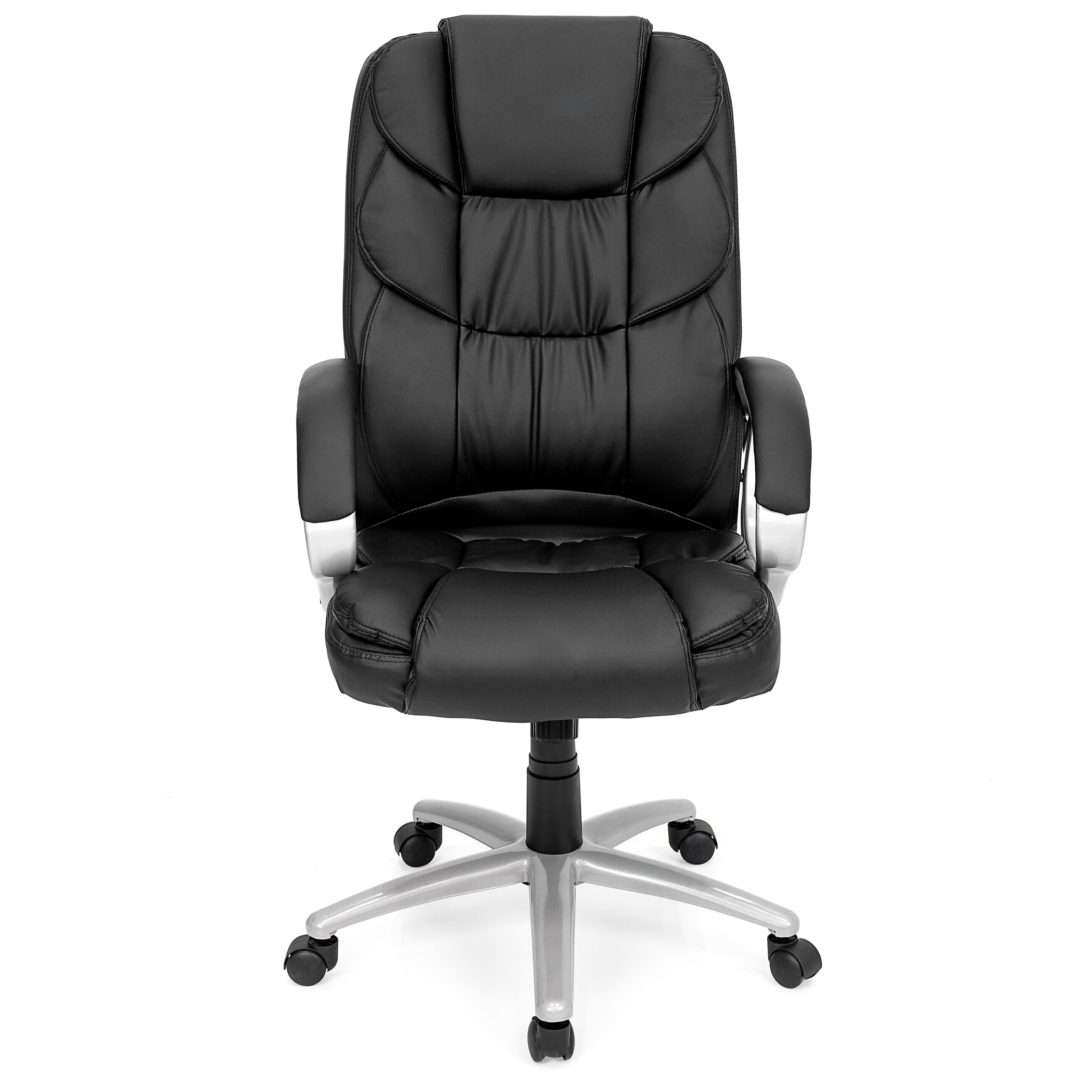 Best Choice Products Ergonomic PU Leather High Back Office Chair, Black 2