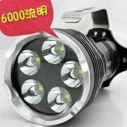 5顆L2手電筒 6000流明 全配神火標示4800電池4顆 手提燈 照明王者 投射燈 照明燈露營燈停電燈